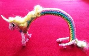 Crochet Lady Rainicorn by Melinda