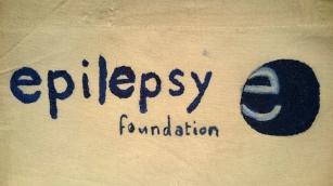 Epilepsy Foundation Logo Painted bag