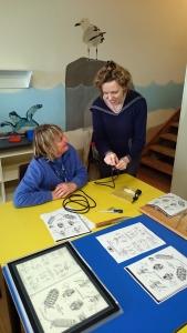 Melinda at Portsea Camp teaching knot tying